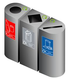 Recycling Bin Sorting Square And Round