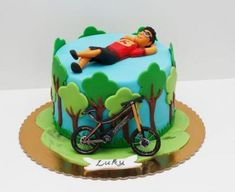 Cake Ideas For Men Sports Galleries Ideas Bicycle Party, Bicycle Cake, Bike Cakes, Mountain Bike Cake, Mountain Biking, Sport Cakes, 40th Birthday Cakes, Cake Cookies, Cupcakes