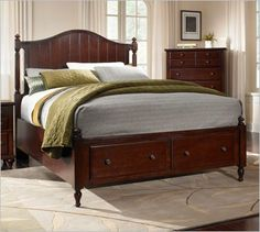 Superior Broyhill Hayden Place 4647 Dark Cherry Panel Bed With Storage Bedroom  Furniture Sets, Home Decor