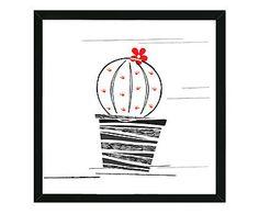 Quadro Cute Cactus - 44x44cm