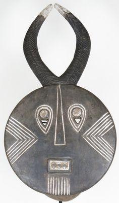 Baule Gray Goli Dance Mask