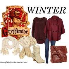 """Gryffindor Seasons - Winter"" by sad-samantha on Polyvore"