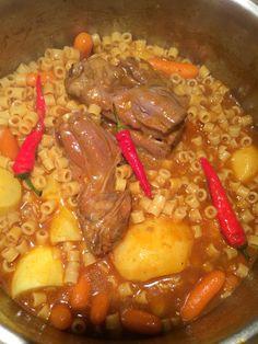 Esther's Umbacoupka...Libyan Lamb Pasta.  Esther Kofod  www.estherkofod.com