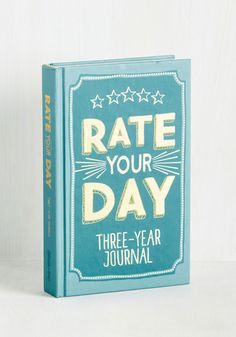 Rate Your Day 3 Year Journal - Good, Blue, White, Other Print, Graduation, Dorm Decor, Handmade & DIY, Quirky, Spring, Summer, Fall, Winter, Gals, Guys, Under $20
