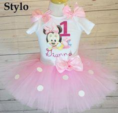 Baby Minnie Mouse Birthday Tutu Set order or follow us on Facebook ; www.facebook.com/... #birthday #babypinktutu #babyminniemouse #styloboutique