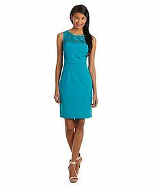 Calvin Klein LaceYoke Dress #Dillards