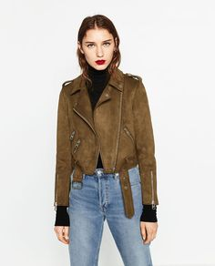 Image 3 of SUEDE EFFECT JACKET from Zara