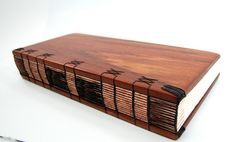 handmade mahogany journal - unique wood book - large The wood covers of this lovely journal were so beautiful I couldnt bring myself to Handmade Journals, Handmade Books, Handmade Rugs, Handmade Crafts, Book Crafts, Paper Crafts, Wood Book, Book Journal, Journal Covers