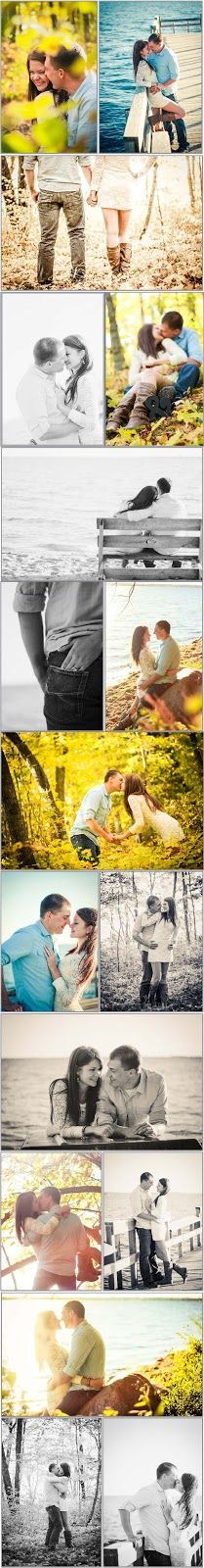 Fall & Lake pics, I love some of these ideas for me and my husband!!!
