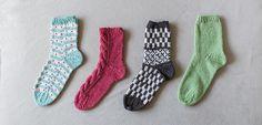 くつした4種 | 編み物キット販売・編み方ワークショップ|イトコバコ