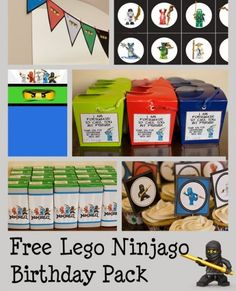 Are you interested in throwing a Lego Ninjago Party? We have all the ideas and supplies you need for the best Lego Ninjago Party around. Lego Ninjago, Ninjago Party, Lego Birthday Cards, Ninja Birthday Parties, Birthday Fun, Birthday Ideas, Theme Star Wars, Party Printables, Free Printables