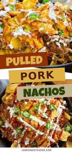 One of the easy to make appetizer is the Pulled Pork Nachos! This quick and easy...  Poland Salad Recipes One of the easy to make appetizer is the Pulled Pork Nachos! This quick and easy pork recipe is made from some leftover pork mixed in bbq sauce and shredded cheese. Perfect to serve to a party or any family get together as an appetizer! Try this on game night as well! Bbq Appetizers, Easy To Make Appetizers, Easy Dinner Recipes, Slow Cooked Pulled Pork, Pulled Pork Nachos, Quesadillas, Pork Recipes, New Recipes, Salad Recipes