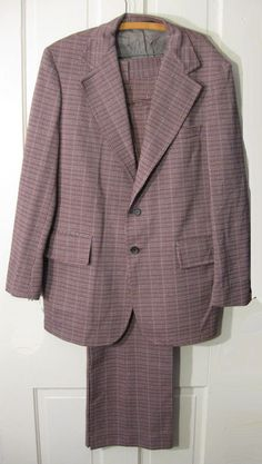 Vintage 70s Mens Houndstooth Suit by by LilBlackDressVintage, $25.00