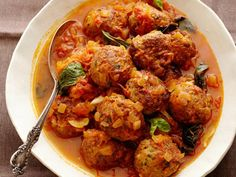 Pork Meatballs : Recipes : Cooking Channel Recipe | Alex Guarnaschelli | Cooking Channel