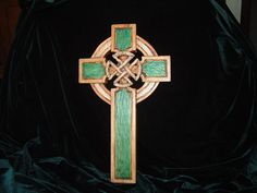 Hand Carved and Painted Celtic Cross with Celtic by mrafferty913