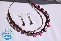 Purple Frosting Necklace & Earring Set via Etsy
