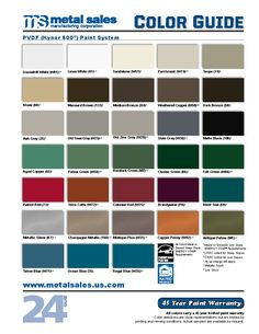 Metal Roofing and Siding - Colors, Finishes, Guides and Warranties - Metal Sales Manufacturing