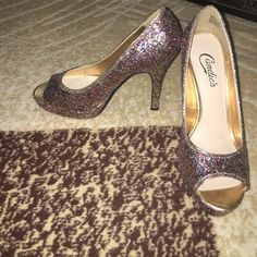 clearance Multicolored sequined heels Multicolored sequined heels. Worn once Candie's Shoes Heels