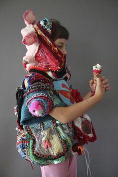 "Diary: ""I grow childish""    MONA LUISON | ART SCULPTURE TEXTILE (EMMANUELLE LOISON) | UPCYCLING"