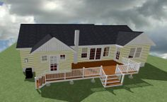 Street, MD - Residence Proposed rendering of additions. (See pin of plan) Drawing Board, My Drawings, How To Plan, Mansions, Street, House Styles, Projects, Home Decor, Log Projects