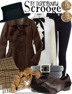 """Click through for [currently] 1 tag """"A Christmas Carol"""" on the DisneyBound fashion blog. See outfits inspired by the ghosts and by Tiny Tim at the link here: http://pinterest.com/pin/175218241724296519/"""