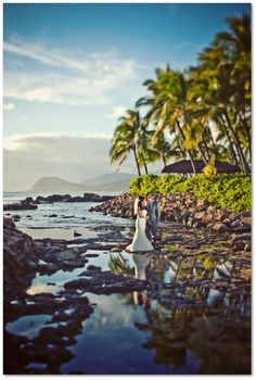 A photo from our 2 day trash the dress session that we did while on our honeymoon in Hawaii.