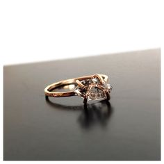 Herkimer Diamond Engagement Ring Gemstone Ring by camilaestrella, $135.00