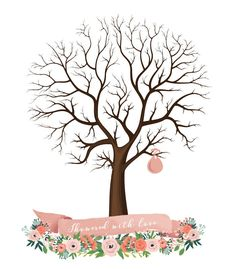 Sale! Now 8 dollars! for Instant download-  Baby Birth Tree Guest Book - Fingerprint - Baby Shower - 11x14 inches - printable JPEG - DIY