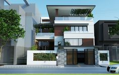 Search new Luxury houses Duplex House Design, House Front Design, Small House Design, Modern House Design, Mansion Interior, Interior Exterior, Exterior Design, Archi Design, Facade Design