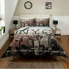 Bedroom Sets Nyc luxury photographic double duvet quilt cover bedding set