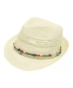 Another great find on #zulily! Ivory Beaded Fedora #zulilyfinds