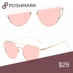 Rose Gold Mirrored Cat Eye Sunglasses COMING SOON Like this listing to be notified when this item is available ⬇️ Accessories Sunglasses