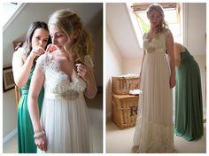 A Fun Rustic Wedding with a Divine Claire Pettibone Dress