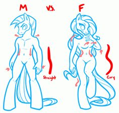how to draw anime horses, draw anthro ponies step 1