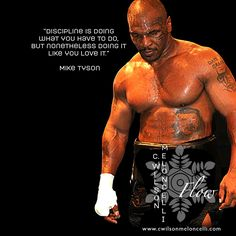 "Good day! Here's some motivation quote brought to you by #MikeTyson ""Discipline is doing what you have to do, but nonetheless doing it like you love it."" #loveYourSport #flowstate"