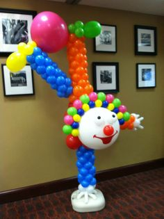 Dante's Upside Down Clown using Zephyr Solutions Balloon Column Kit