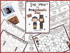 Susan Hardin's Say Yea for Presidents Day. $5 Reading comprehension, trivia, thinking map, entertaining board game and more..
