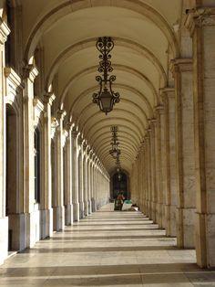 Archways in Comercio Square - Lisbon
