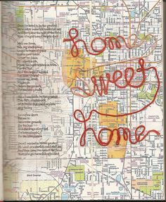 Great idea!  Create a map of where you live or important places in your life - perfect for your new home!