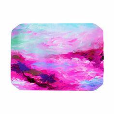 "Ebi Emporium ""Taken By The Undertow 4"" Pink Magenta Place Mat"
