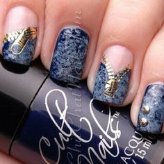 Top 25 Zipper Nail Art Designs