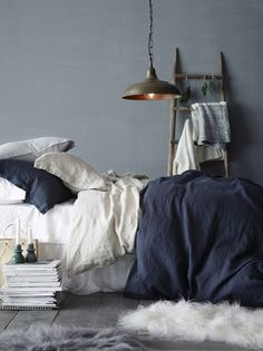 Blue Grey Bedroom Blue Grey Bedroom Blue Gray Bedroom Walls Grey Bedroom Walls Grey Bedroom Walls Inspirational How To Navy Blue Bedrooms, Blue Gray Bedroom, Bedroom Colors, Blue Grey Rooms, Blue And Grey Bedding, Indigo Bedroom, Blue Bedroom Decor, White Bedrooms, Pink Grey