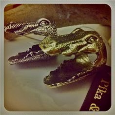 Check out these sweet crocodile rings by Pika & Bear! We're in love with this line & all their eclectic designs!!