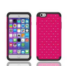 Pink and black iphone6 case not for the plus! It's a super cute case that I have too!