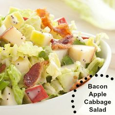 Bacon Apple Cabbage Salad