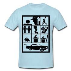 Spreadshirt, i wish i was little bit taller, Mens Heavyweight T-Shirt, sky blue, S