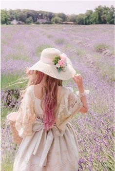 I close my eyes and take a walk with my sister through lavender fields. Flower Girls, Flower Girl Dresses, Mode Lolita, Mode Kawaii, Lavender Fields, Lavander, Mori Girl, Belle Photo, Ideias Fashion