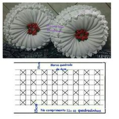 I Like The Bows And Flowers In The Mid Bedlinensilike - Diy Crafts - Marecipe Smocking Tutorial, Smocking Patterns, Embroidery Stitches Tutorial, Hobbies And Crafts, Diy And Crafts, Felt Flower Pillow, Diy Pouf, Sewing Crafts, Sewing Projects