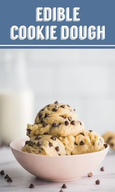 EASY Edible Cookie Dough- this cookie dough is eggless and completely edible You can make it plain or with chocolate chips m ms or whatever you desire SO GOOD cookie dessert eggfree Cookies Dough, Cookie Dough Vegan, Cookie Dough For One, Cookie Dough Fudge, Cookie Dough Recipes, Cookies Et Biscuits, Edible Cookie Dough Recipe For One, Desserts With Cookie Dough, Microwave Cookie Dough