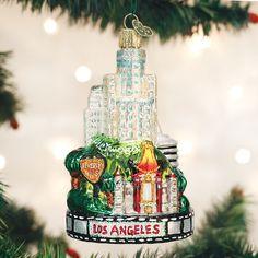 "/""Los Angeles City/"" X Old World Christmas Ornament w//OWC Box 20085"